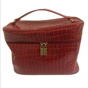 Elizabeth Arden Red Croc Cosmetic Carry Case